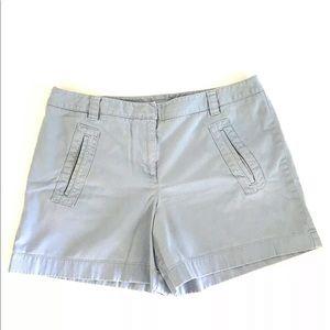 Ann Taylor Loft Blue Walking Shorts 14 High Waist